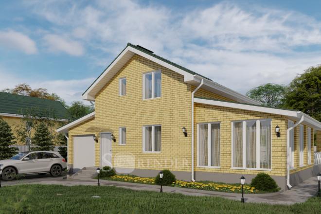 Фотореалистичная 3D визуализация экстерьера Вашего дома 25 - kwork.ru