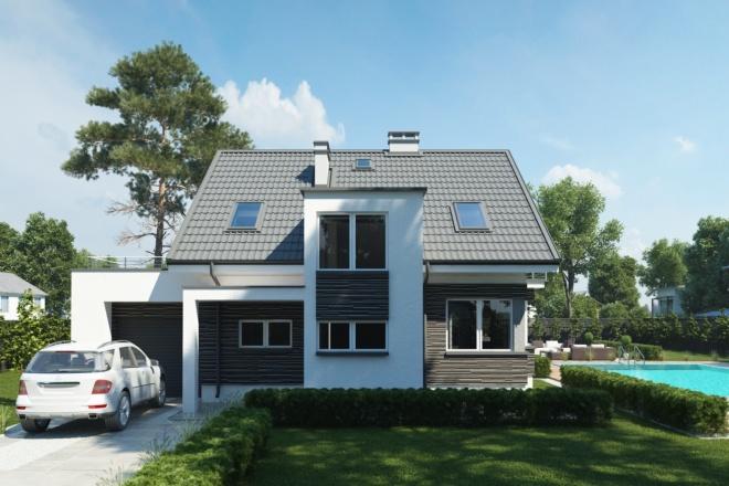 Качественная 3D визуализация фасадов домов 9 - kwork.ru