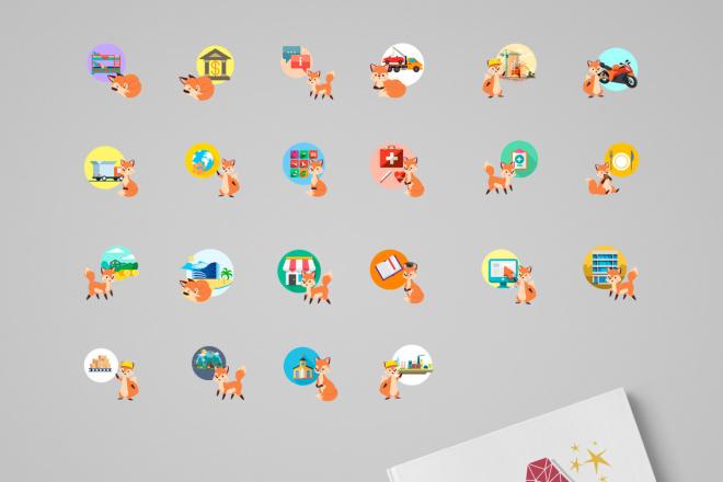 До 10 иконок или кнопок для проекта 13 - kwork.ru