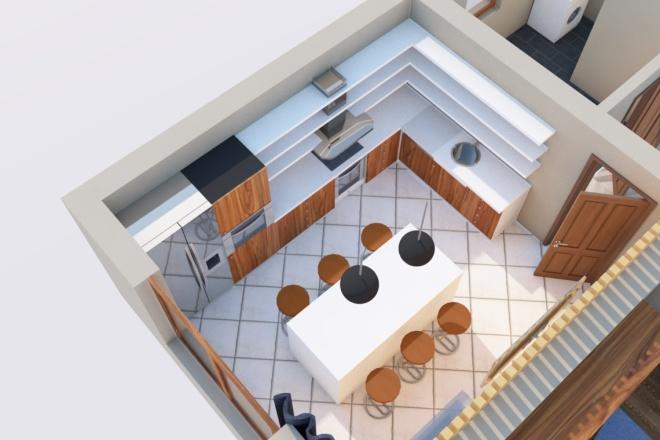 Создам планировку дома, квартиры с мебелью 2 - kwork.ru