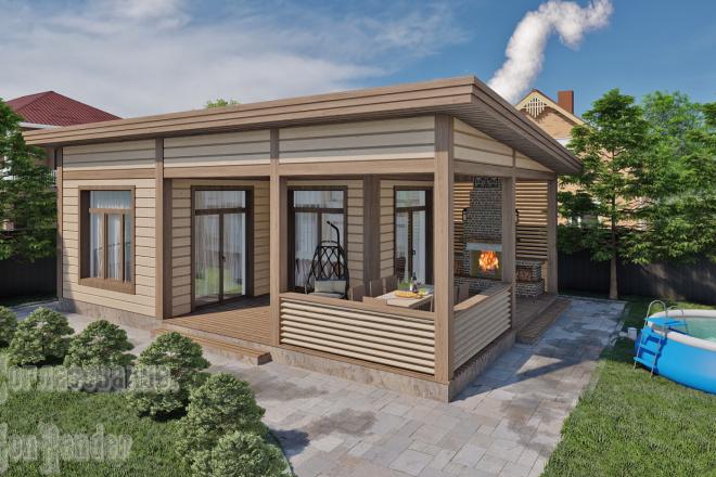 Фотореалистичная 3D визуализация экстерьера Вашего дома 5 - kwork.ru