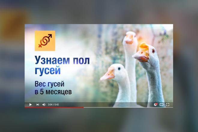 Грамотная обложка превью видеоролика, картинка для видео YouTube Ютуб 33 - kwork.ru
