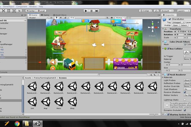 Исходник игры Frenzy Farming time management game kit. Unity 1 - kwork.ru