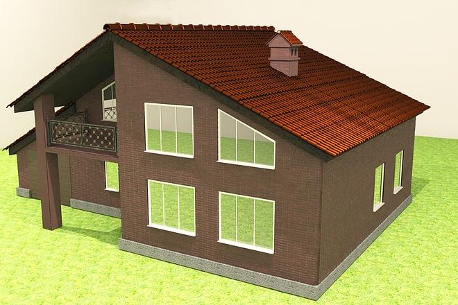 Экстерьеры. 3д модели домов 2 - kwork.ru