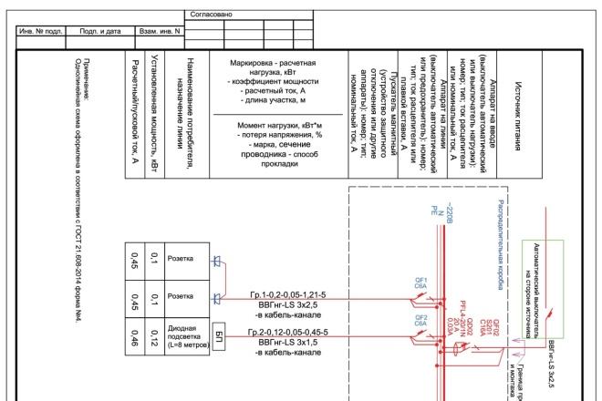 Выполню однолинейную схему электроснабжения 42 - kwork.ru