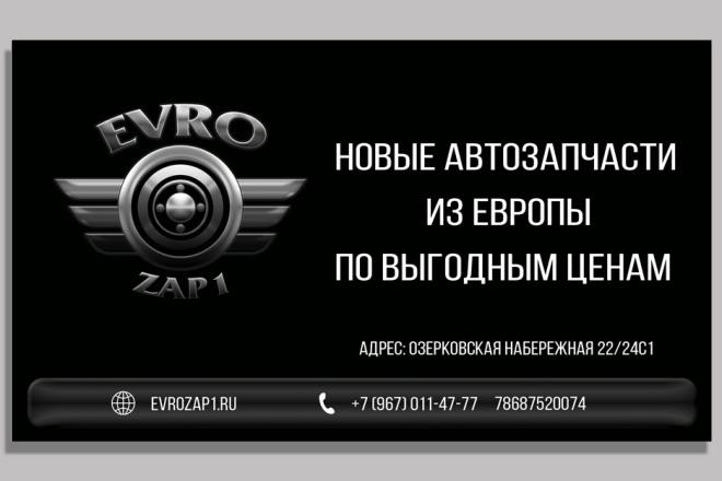 Дизайн двусторонней визитки 10 - kwork.ru