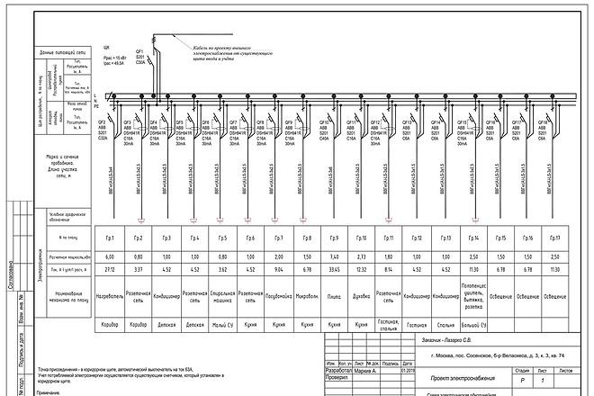 Выполню однолинейную схему электроснабжения 57 - kwork.ru