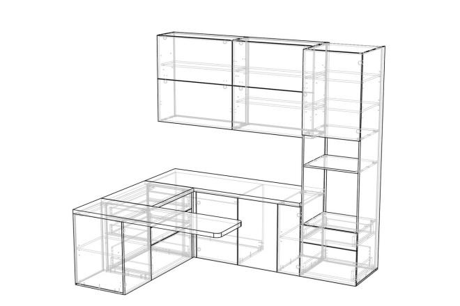 Конструкторская документация для изготовления мебели 130 - kwork.ru