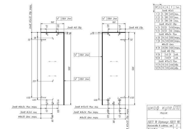 Конструкторская документация для изготовления мебели 24 - kwork.ru