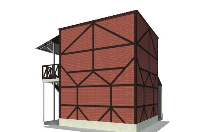 Визуализация экстерьера, фасадов здания 8 - kwork.ru