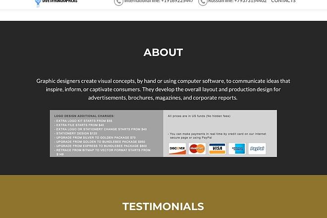 Создание одностраничника на Wordpress 52 - kwork.ru