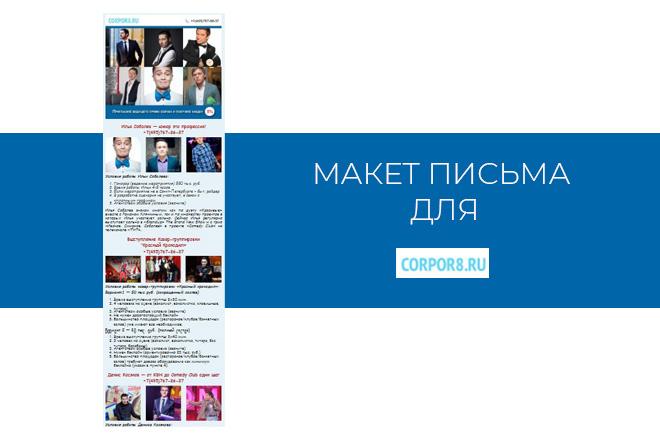 Создам html письмо для e-mail рассылки -адаптация + дизайн 34 - kwork.ru