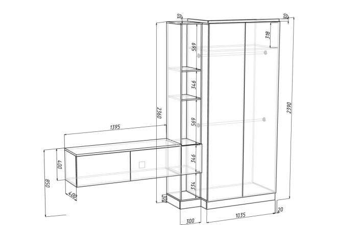 Проект корпусной мебели, кухни. Визуализация мебели 26 - kwork.ru