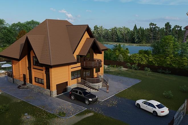 Фотореалистичная 3D визуализация экстерьера Вашего дома 154 - kwork.ru
