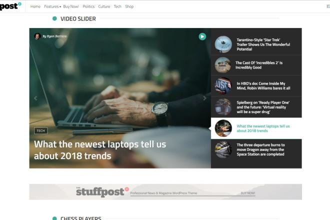 StuffPost - Премиум шаблон ВордПресс новостного портала, газеты, СМИ 3 - kwork.ru