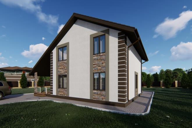 Фотореалистичная 3D визуализация экстерьера Вашего дома 123 - kwork.ru