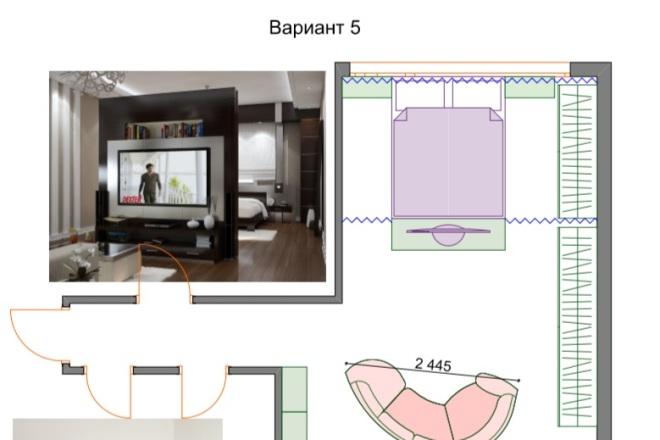 Планировочные решения. Планировка с мебелью и перепланировка 29 - kwork.ru