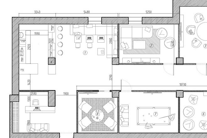 Планировочное решение вашего дома, квартиры, или офиса 36 - kwork.ru