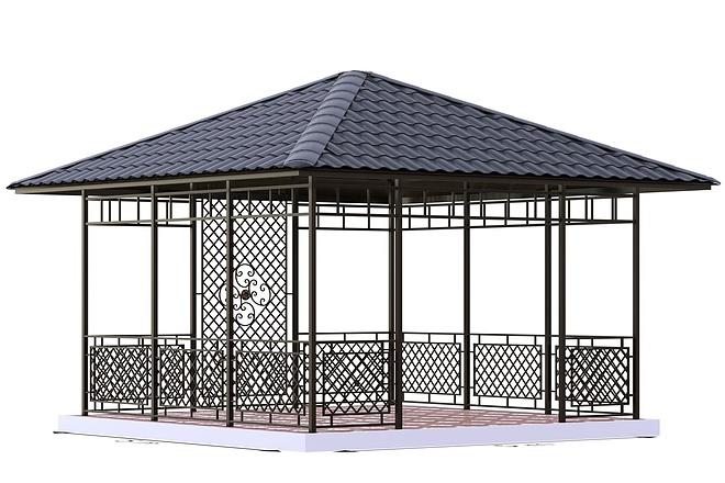 Сделаю 3d модель кованных лестниц, оград, перил, решеток, навесов 6 - kwork.ru