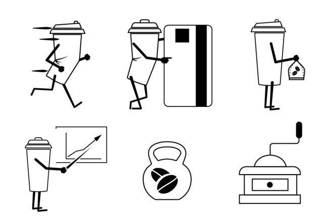 Нарисую 6 иконок в любом стиле 6 - kwork.ru
