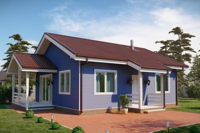 3д моделирование и визуализация экстерьеров домов 7 - kwork.ru