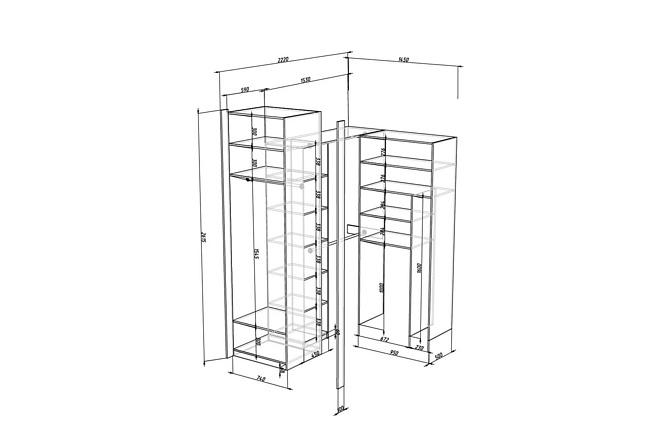 Конструкторская документация для изготовления мебели 77 - kwork.ru