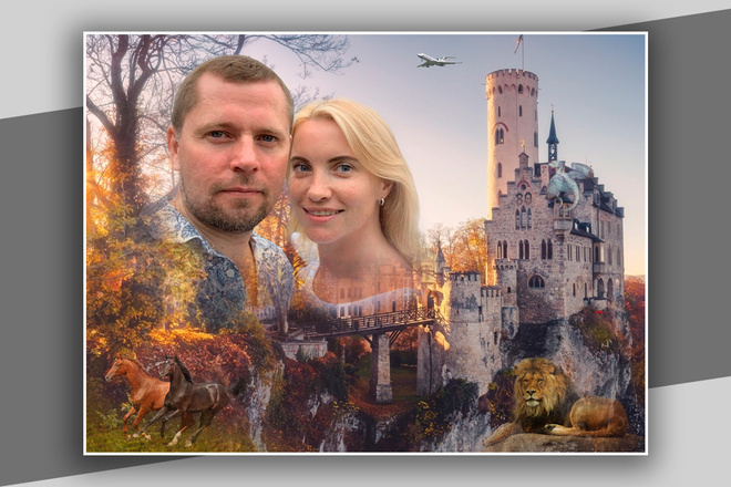 Фотомонтаж в Photoshop 26 - kwork.ru