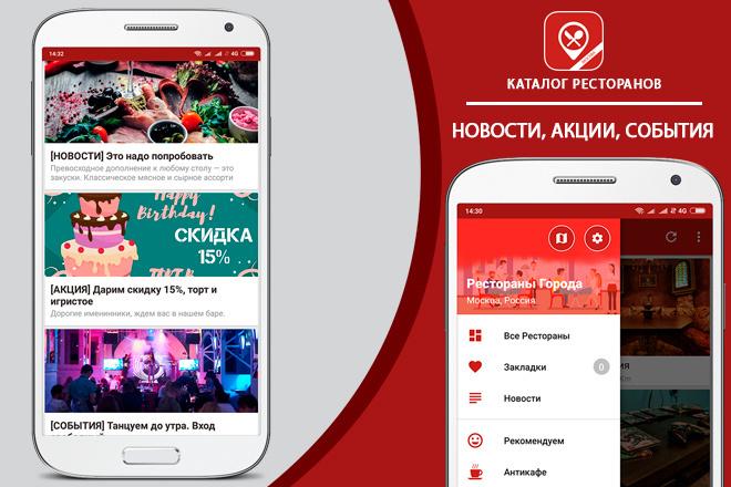 Приложение - Каталог Ресторанов 3 - kwork.ru