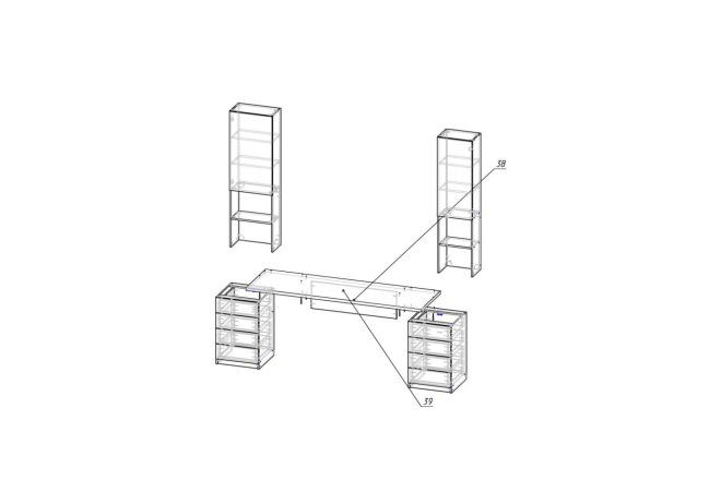 Конструкторская документация для изготовления мебели 139 - kwork.ru