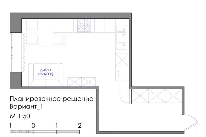 Планировка квартиры или жилого дома, перепланировка и визуализация 6 - kwork.ru