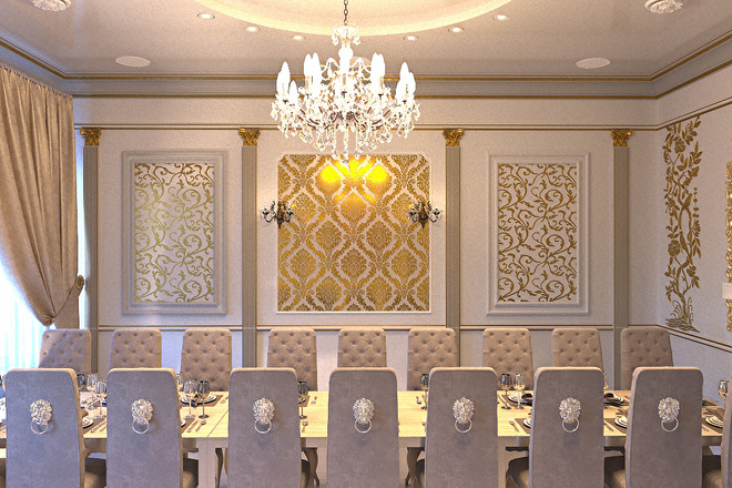 Создам визуализацию банкетного зала 4 - kwork.ru