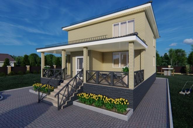 Фотореалистичная 3D визуализация экстерьера Вашего дома 75 - kwork.ru