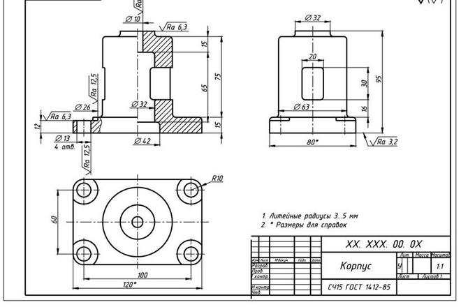 Чертежи в AutoCAD 11 - kwork.ru