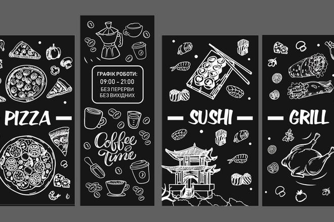 Дизайн рекламной наклейки на стекло, витрину 6 - kwork.ru