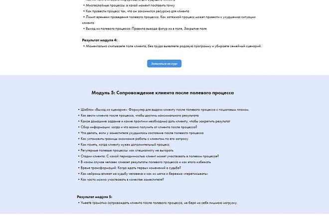 Создание современного лендинга на конструкторе Тильда 55 - kwork.ru