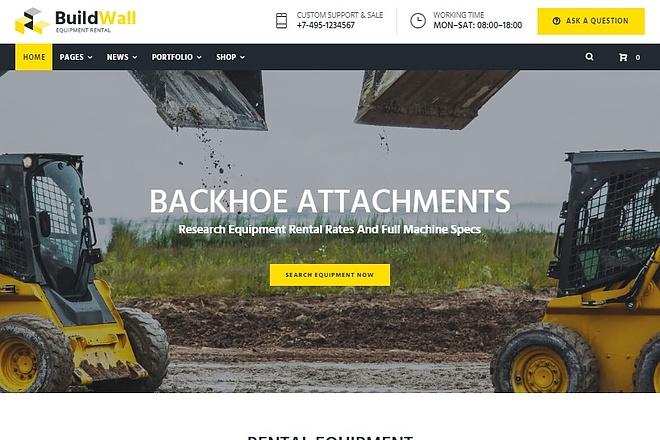 BuildWall - Шаблон сайта строительной компании на WordPress 3 - kwork.ru