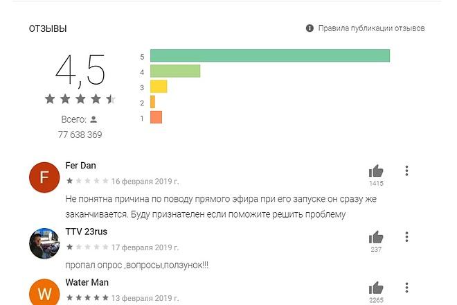 Установка приложений или игр с Play Market + комментарии 2 - kwork.ru