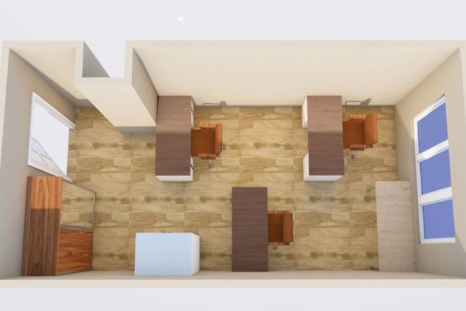 Создам планировку дома, квартиры с мебелью 40 - kwork.ru