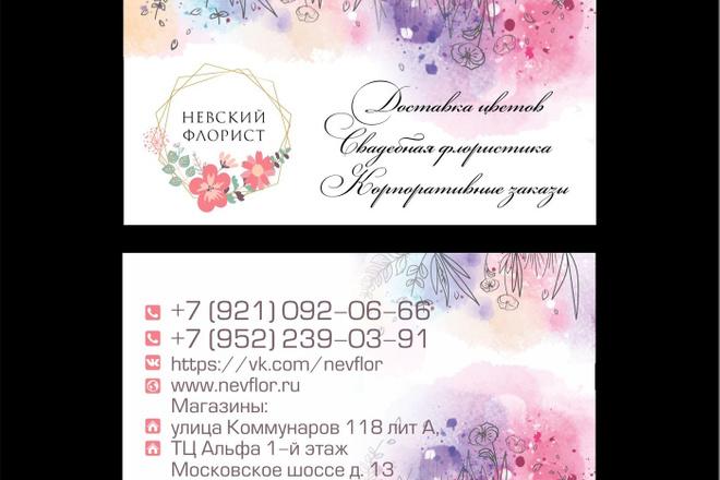 Дизайн визиток 23 - kwork.ru