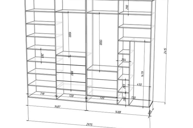 Проект корпусной мебели, кухни. Визуализация мебели 38 - kwork.ru