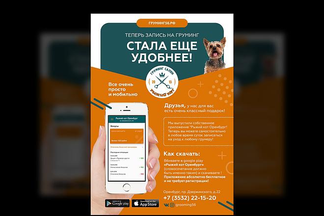 Изготовление дизайна листовки, флаера 49 - kwork.ru