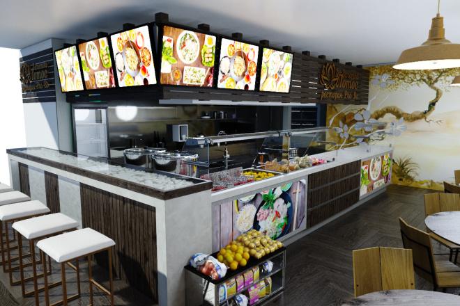 Интерьеры ресторанов, кафе 11 - kwork.ru
