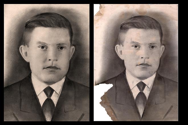 Реставрация старых фото 14 - kwork.ru