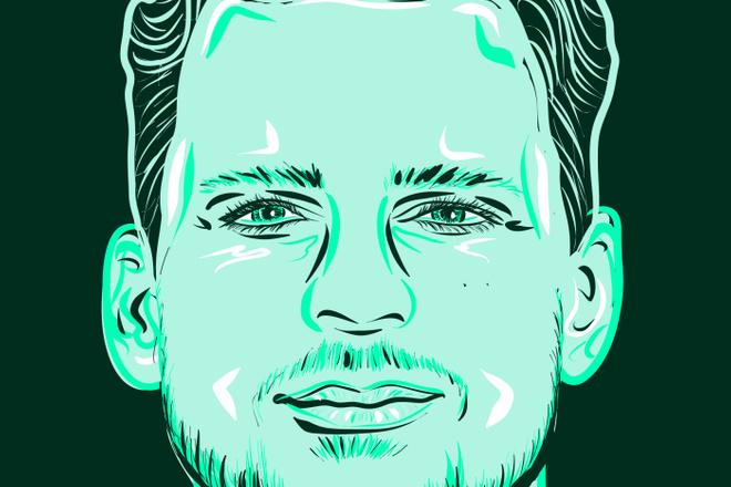 Портрет в стиле Поп - Арт векторный 6 - kwork.ru