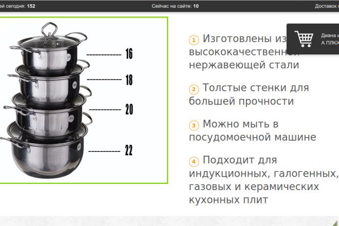 Скопирую страницу любой landing page с установкой панели управления 7 - kwork.ru