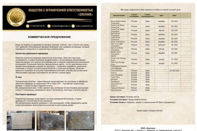 Оформлю коммерческое предложение 16 - kwork.ru