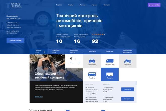 Веб-дизайн страницы сайта PRO уровня 6 - kwork.ru