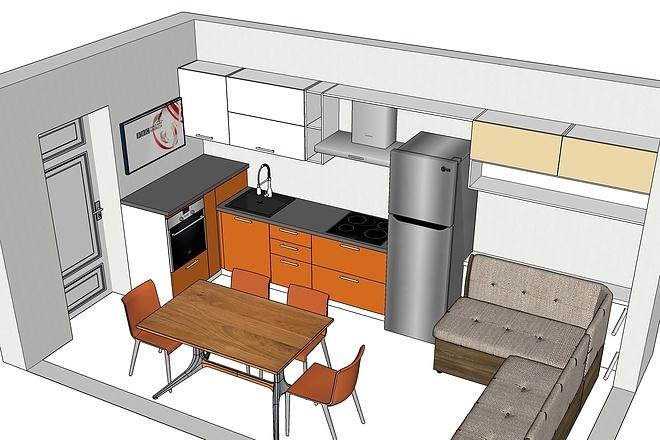 Дизайн-проект кухни. 3 варианта 10 - kwork.ru