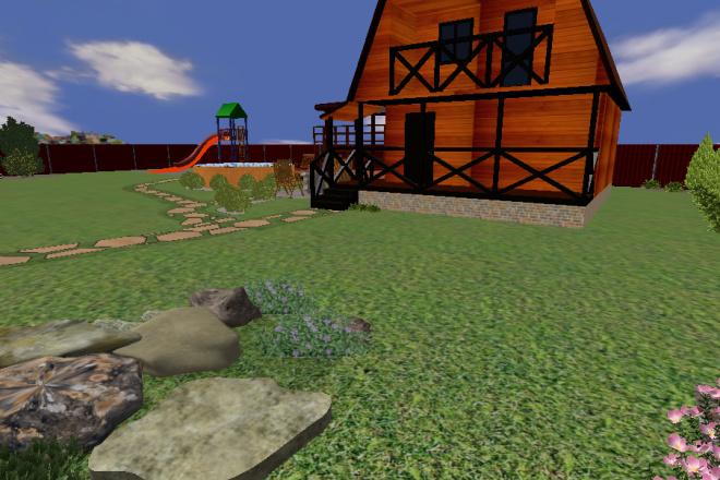 Создам 3D визуализацию ландшафта 2 - kwork.ru