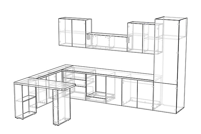 Конструкторская документация для изготовления мебели 124 - kwork.ru